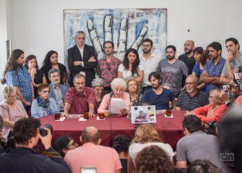 Estela de Carlotto, presidenta de La Asociación Abuelas de Plaza de Mayo, anuncia en conferencia de prensa el hallazgo de la nieta 129. Foto: Kaloian.