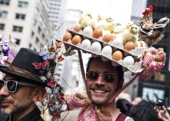 Desfile de Pascua en Nueva York, el domingo 21 de abril de 2019. Foto: Jeenah Moon / AP.