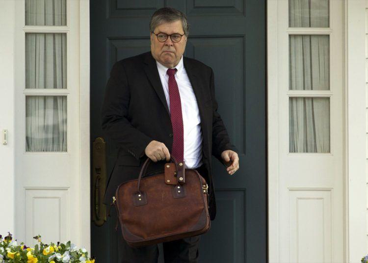 El fiscal general William Barr. Foto: AP.