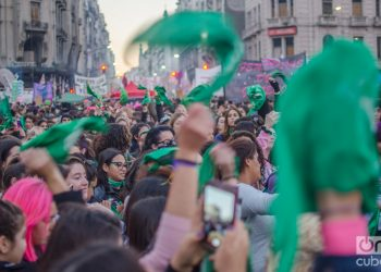 Manifestación pro aborto en Argentina. Foto: Kaloian.