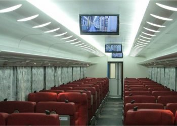 Coches de primera clase llegados a Cuba desde China. Foto: Unión de Ferrocarriles de Cuba.