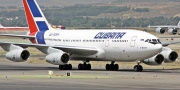 Avión de Cubana de Aviación. Foto: Archivo.