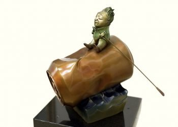 """""""El héroe"""", de la serie """"Navegantes"""", escultura en bronce de Pedro Pablo Oliva. Foto: cortesía del artista."""