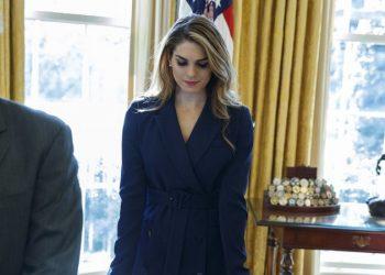 La ex directora de Comunicaciones de la Casa Blanca, Hope Hicks. Foto: Evan Vucci/AP.