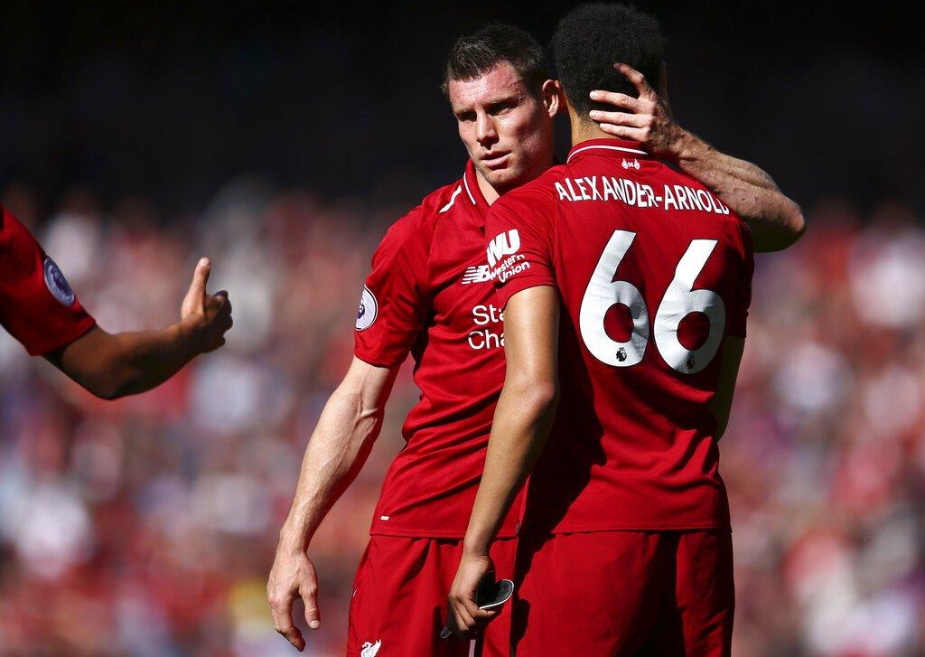 Liverpool quedó a un paso de conquistar su primer título de la Premier League en 29 años. (AP Foto/Dave Thompson)