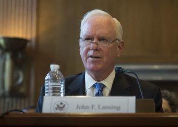 El presidente de la Agencia de Prensa Global de Estados Unidos, John F. Lansing. Foto: Laurie Moy / BBG (VOA).