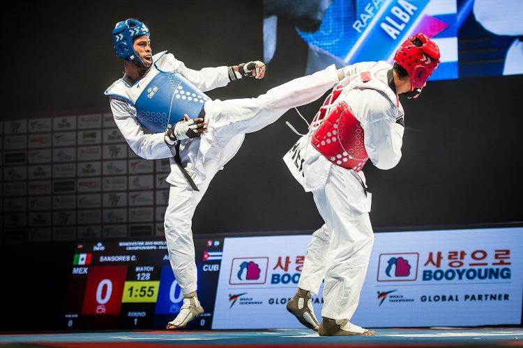 Rafael Alba en Manchester. Foto: Tomada de World Taekwondo