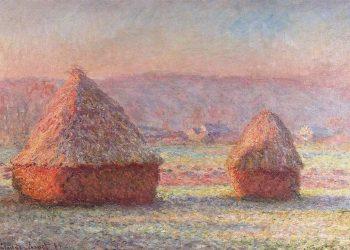 """Obra """"Meules"""", de Claude Monet. Foto: El Siglo de Torreón."""