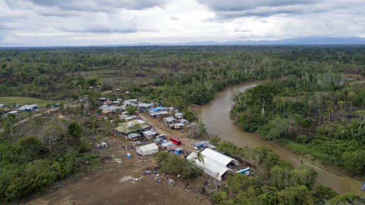 El poblado indígena de Peñitas, en la provincia de Darién, Panamá, el 10 de mayo de 2019. Foto: Arnulfo Franco / AP.