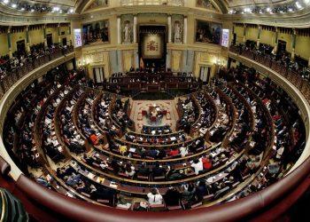 Vista general del hemiciclo de la Cámara Baja, durante la sesión constitutiva del Congreso de la XIII Legislatura. EFE/Javier Lizón.