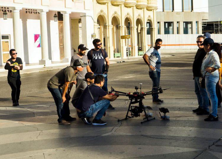 Rodaje de la cinta Habana Selfies. Foto: Habanaselfiesfilm.com