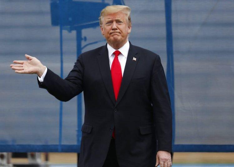 El presidente Donald Trump durante un evento de la Academia de la Fuerza Aérea, en Colorado, el jueves 30 de mayo de 2019. Foto: David Zalubowski / AP.