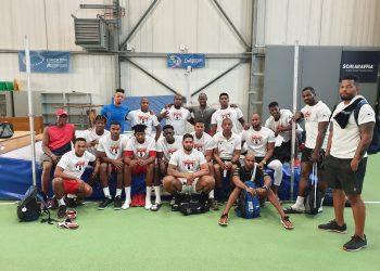 El equipo cubano reunido en Bochum, donde completan una importante segmento de preparación rumbo a Lima 2019. Foto: Tomada del Facebook de Yosdanys Ríos