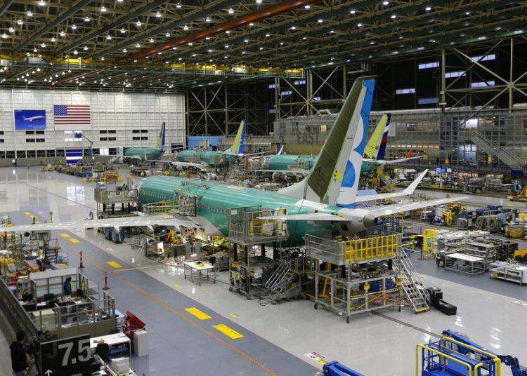 Un Boeing 737 Max es construido en Renton, Washington, el 7 de diciembre de 2015. Foto: Ted S. Warren / AP.