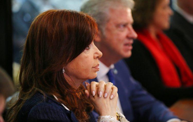 La ex presidenta argentina Cristina Fernández en un tribunal federal, en Buenos Aires, el martes 21 de mayo de 2019. Foto: Marcos Brindicci / AP / Archivo.