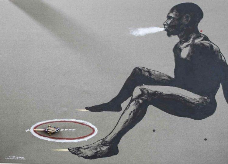 "Obra ""El ser interno"", del artista cubano Santiago Rodríguez Olazábal."