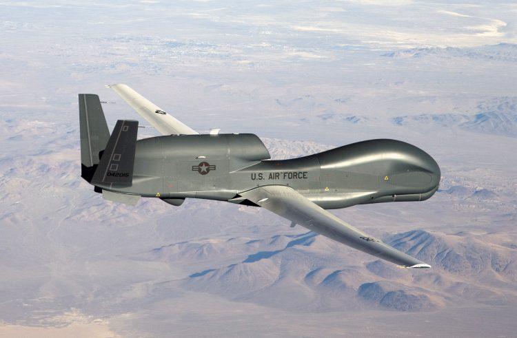 Se trataría de un RQ-4 Global Hawk como este. Foto: Bobbi Zapka/U.S. Air Force.