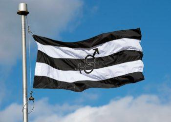 """Bandera del """"orgullo hetero"""" izada en Carolina del Sur."""