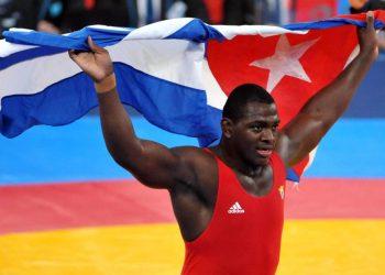 El multicampeón cubano de lucha Mijaín López. Foto: trabajadores.cu / Archivo.