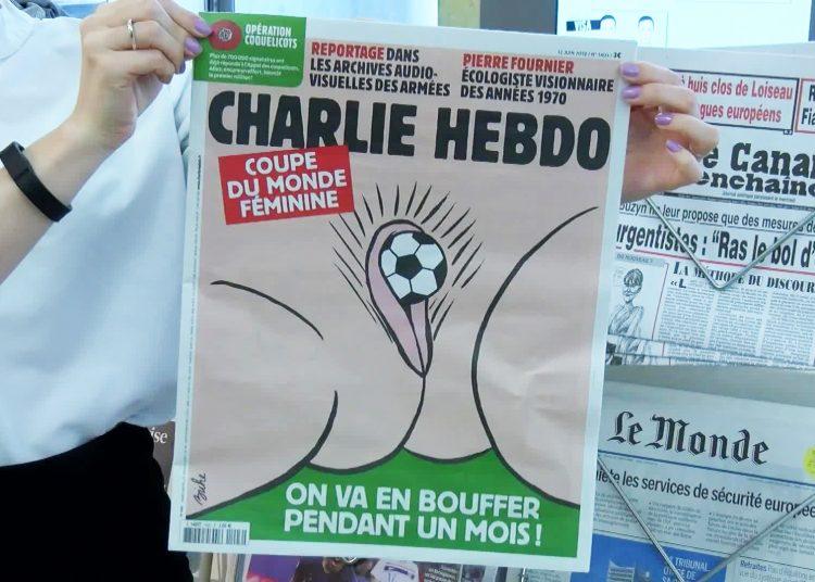 """Último número de """"Charlie Hebdo"""". Foto: Ruptly."""