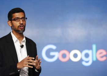 Foto de archivo, 4 de enero de 2017, del gerente general de Google, Sundar Pichai, en conferencia de prensa en Nueva Delhi. Foto:Tsering Topgyal/AP.