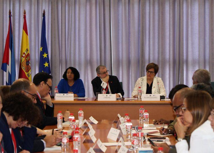 XIV Encuentro Bilateral entre universidades de España y Cuba celebrado en la Universidad de Cantabria. Foto: @CrueUniversidad / Twitter.
