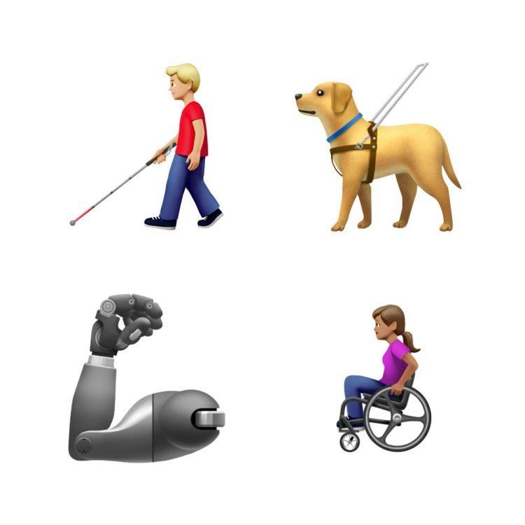 Esta imagen proporcionada por Apple muestra los nuevos emojis lanzados por Apple. Tanto Apple como Google lanzaron el miércoles 17 de julio de 2019 decenas de nuevos emojis. Apple vía AP.