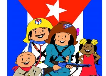 """Personajes del dibujo animado """"Elpidio Valdés"""", un clásico de la animación cubana. Imagen: Juventud Rebelde."""