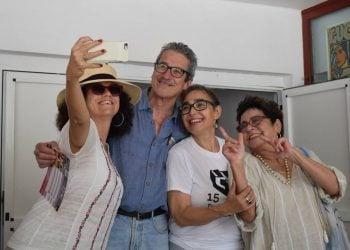 Laura de la Uz, Fernando Pérez, María Isabel Díaz y Daisy Granados. Foto: Danier Ernesto González / Telecristal-Holguín.