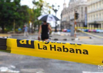 Lluvia en La Habana. Foto: Otmaro Rodríguez / Archivo.