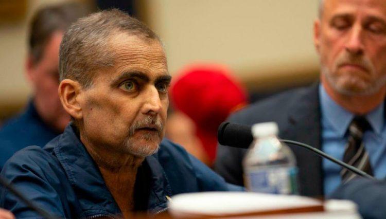 El expolicía y socorrista de origen cubano Luis Álvarez, fallecido el 29 de junio de 2019, durante su audiencia ante una comisión del Congreso de Estados Unidos. Foto: CNN.
