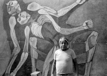 El pintor ecuatoriano Oswaldo Guayasamín. Foto: El País.