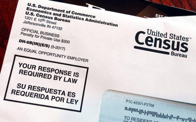 Carta de la Oficina del Censo de EEUU enviada a un residente del país, parte de un ensayo para el censo de 2020. Foto: Michelle R. Smith / AP / Archivo.
