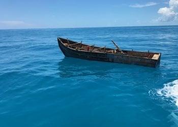 Foto de archivo de embarcación utilizada por balseros cubanos. Foto: Erik Villa Rodriguez / Guardia Costera de EE.UU. / Archivo.