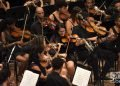 """Orquesta sinfónica del Gran Teatro """"Alicia Alonso"""" en el concierto """"Clásicos a lo cubano"""", en el Teatro Nacional de La Habana. Foto: Otmaro Rodríguez."""