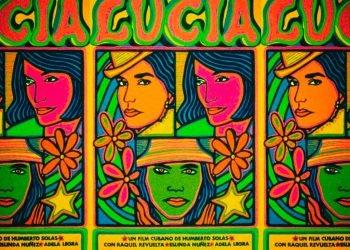"""Fragmento del cartel promocional de la película """"Lucía"""", de Humberto Solás. Foto: Archivo."""