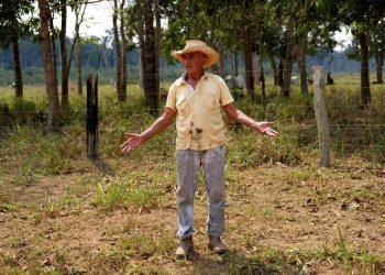 Antonio Lopes da Silva, un ganadero de 75 años, posa para una fotografía en Vila Nova Samuel, en el estado amazónico de Rondonia, Brasil, el 29 de agosto de 2019. Lopez Da Silva dijo que hay que proteger la Amazonía, pero también cree que los fuegos para limpiar tierras para plantar pasto son necesarios para que la región y el país properen ante la dificil situación económica. Foto:Luis Andrés Henao/AP.