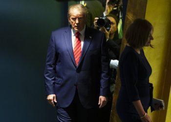 El presidente de Estados Unidos, Donald Trump, antes de hablar ante la 74ª sesión de la Asamblea General de las Naciones Unidas en la sede de la ONU en Nueva York. Foto: Mary Altaffer / AP / Archivo.