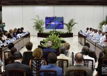 Segundo Consejo Conjunto Cuba-UE, celebrado en La Habana el 9 de septiembre de 2019. Foto: Otmaro Rodríguez.