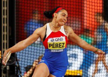 La cubana Yaimé Pérez, campeona mundial y panamericana del lanzamiento del disco. Foto: Valdrin Xhemaj / EFE / Archivo.