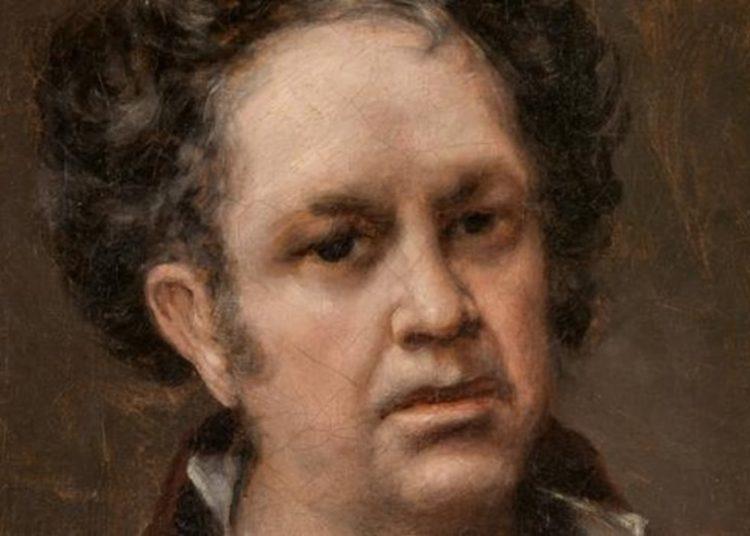 Fragmento del autorretrato de Goya, firmado por el artista español en 1815.