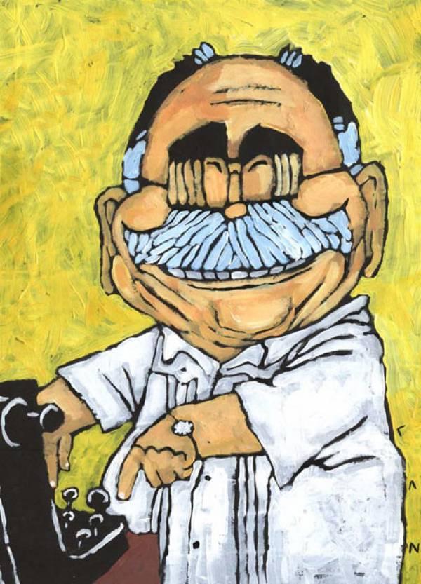 Caricatura de Enrique Núñez Rodríguez, de la autoría de LAZ.