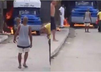 Imágenes de la explosión ocurrida en Bayamo, en el oriente de Cuba, como consecuencia han fallecido dos hombres hasta el momento. Foto: Captura de video.