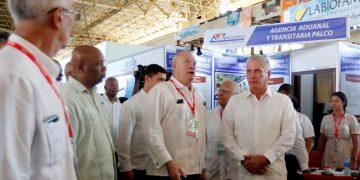 Imagen de archivo de la apertura de la Feria Internacional de La Habana FIHAV 2019, con la presencia del presidente cubano Miguel Díaz-Canel y otros funcionarios de la Isla. Foto: Ernesto Mastrascusa / EFE / Archivo.