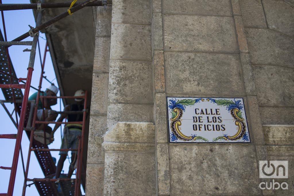 Trabajos de restauración en La Habana por el aniversario 500 de la ciudad. Foto: Otmaro Rodríguez.