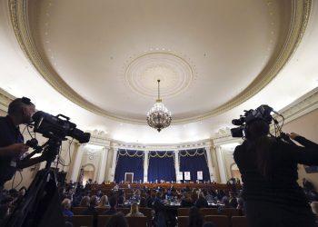 Audiencia en el Capitolio, Washington, 21 de noviembre de 2019.   (Matt McClain/Pool via AP)