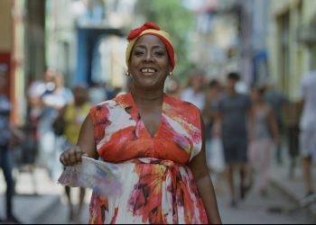 Xiomara Laugart graba primer video clip de su carrera, dedicado a La Habana. Foto: Cortesía de Jonal Cosculluela.