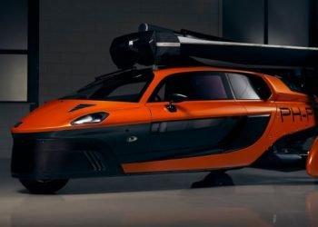 Prototipo del primer coche volador PAL-V Pioneer, presenrado en la ciudad estadounidense de Miami. Foto: pal-v.com