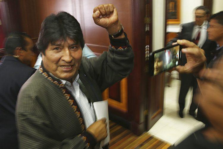 El expresidente de Bolivia, Evo Morales, después de una conferencia de prensa en el club de periodistas en la Ciudad de México, el miércoles 27 de noviembre de 2019. Foto: Marco Ugarte/AP.