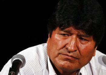 Evo Morales, durante una conferencia de prensa en Buenos Aires, Argentina. Foto: Natacha Pisarenko/AP.